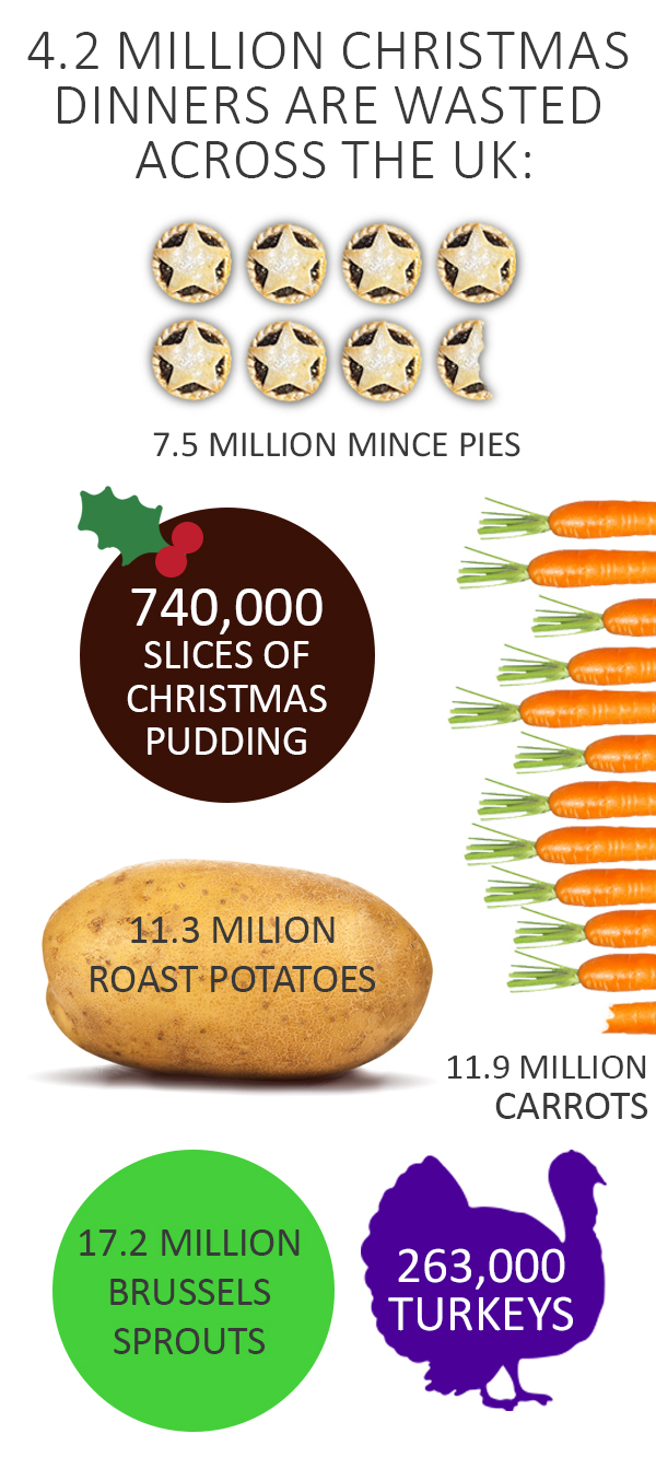 Christmas waste statistics infographic
