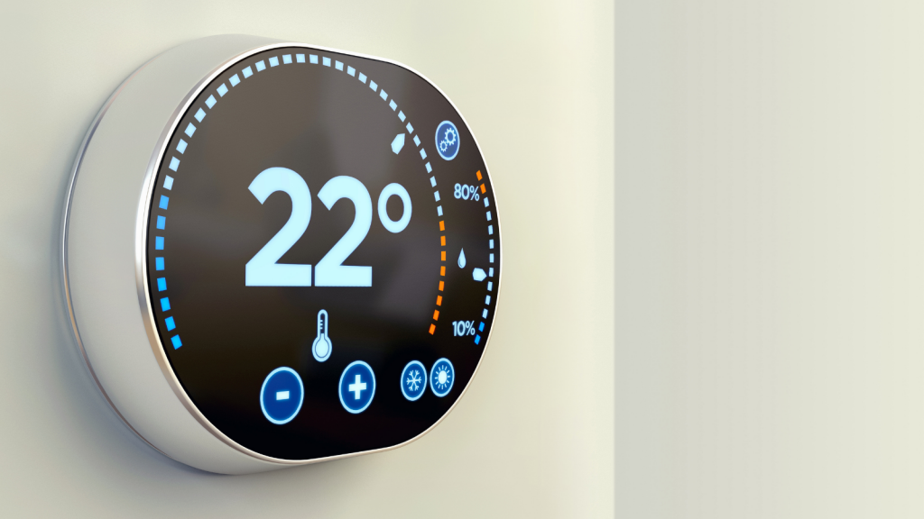 The thermostat of a smart building